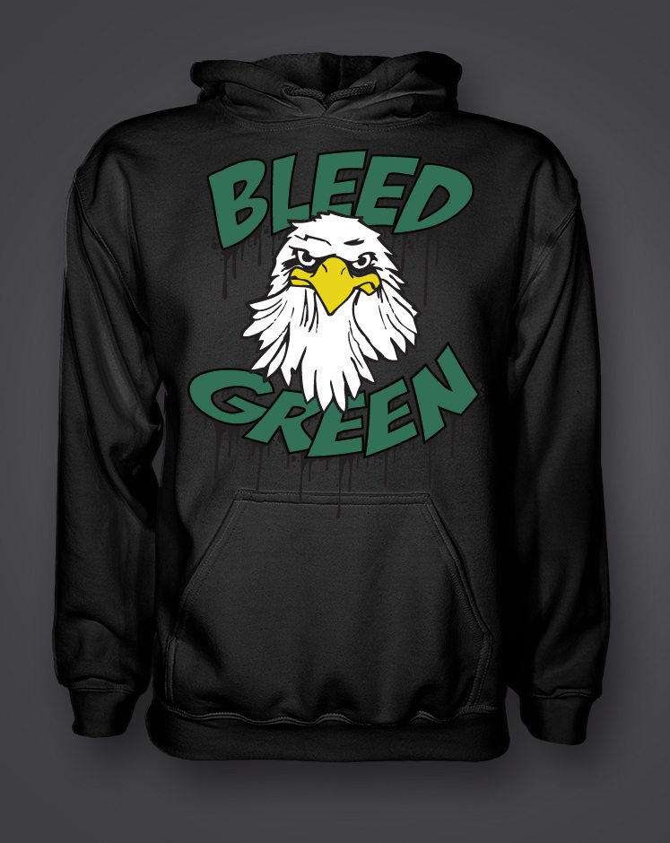 Eagles Bleed Green Hoodie – Art History 101