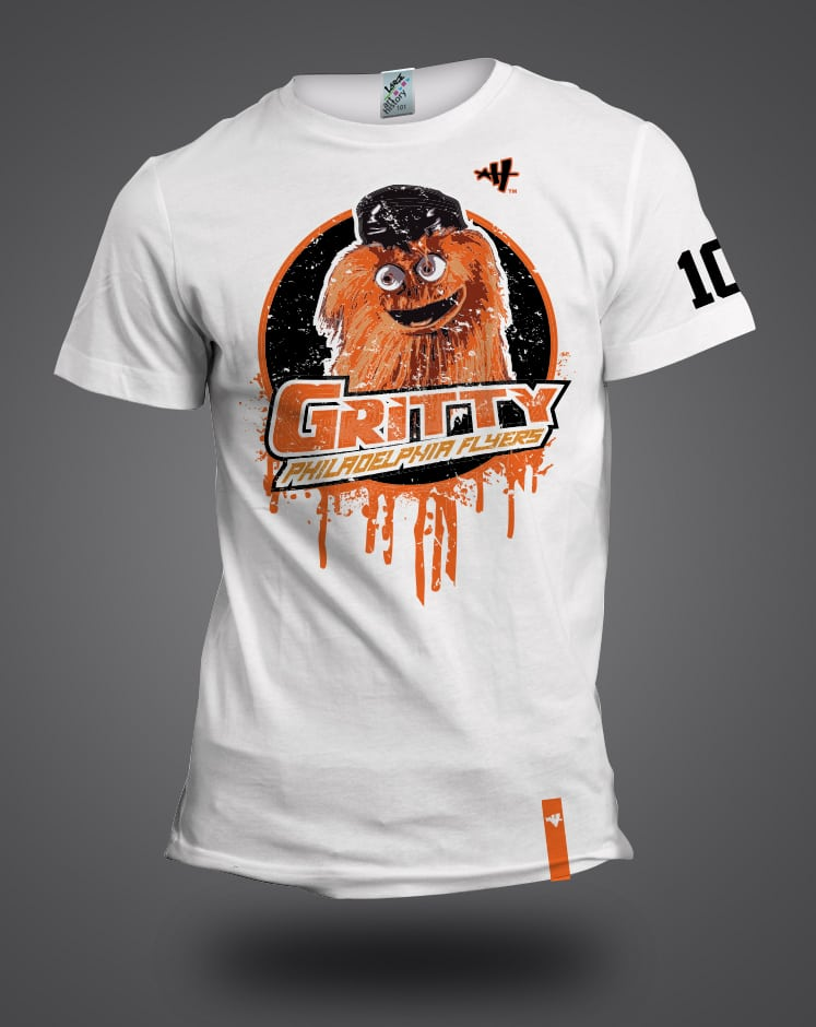Philadephia Flyers  GRITTY T-shirt. gritty final black mock 04e634915