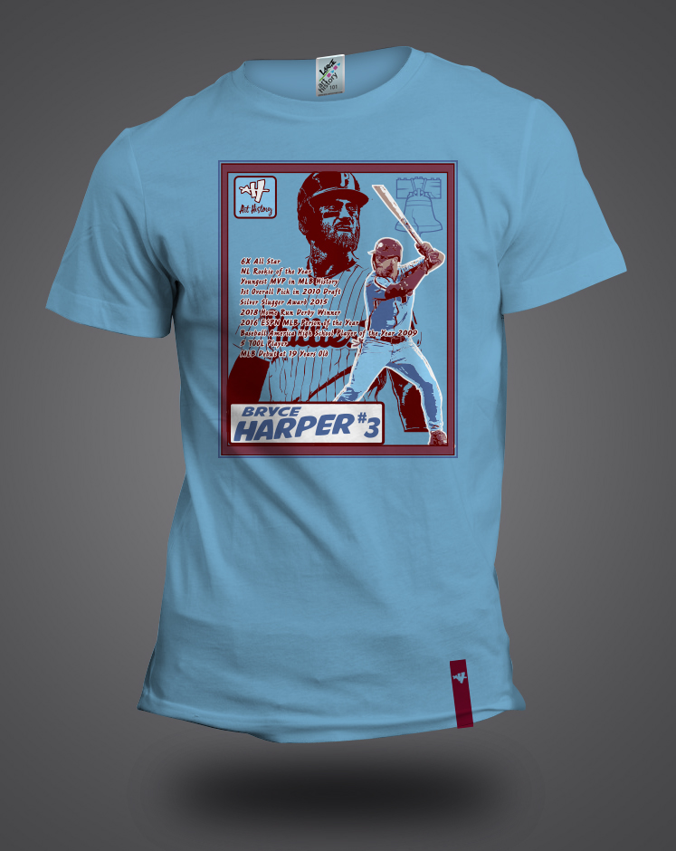 online retailer 58ad5 e6918 Bryce Harper Trading Card t-shirt